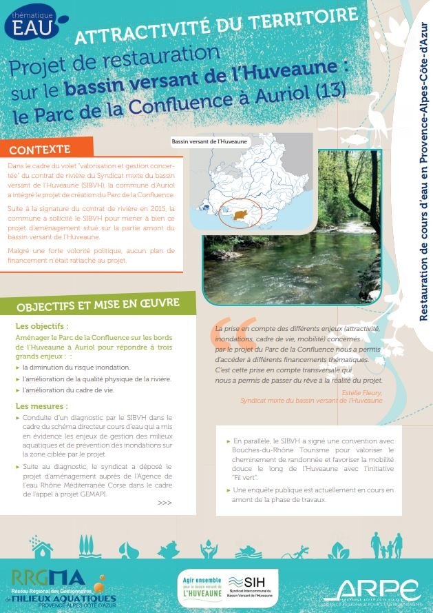 RRGMA Provence-Alpes-Côte-D'azur publie des fiches retours d'expériences  sur la restauration des cours d'eau